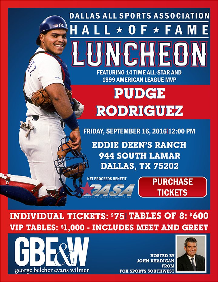 Pudge Rodriguez Hall of Fame Lunch